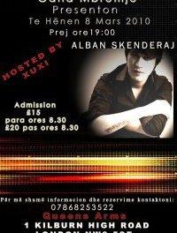 8 marsin me Alban Skenderajn Live & Unplugged ne Londer