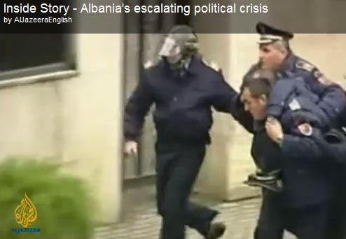 Al Jazeera English TV about political crisis in Albania – video