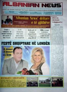 Albanian News gazete e re e komunitetit ne Britani