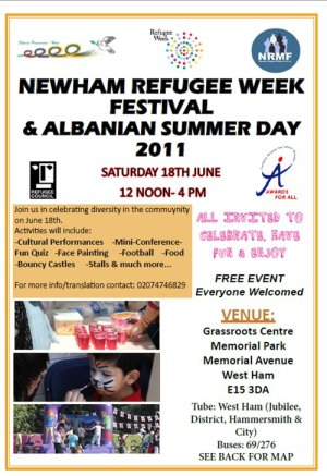 Newham Refugee Week Festival and Albanian Summer Day 2011