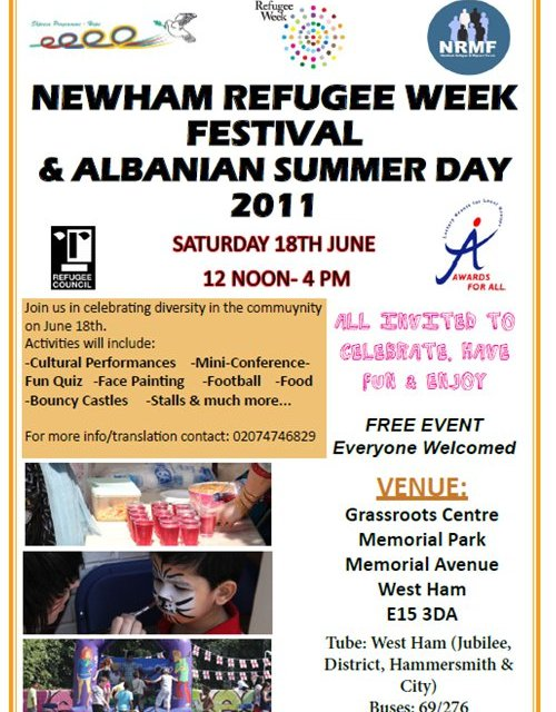 <!--:en-->Newham Refugee Week Festival and Albanian Summer Day 2011, 18 June 2011<!--:-->