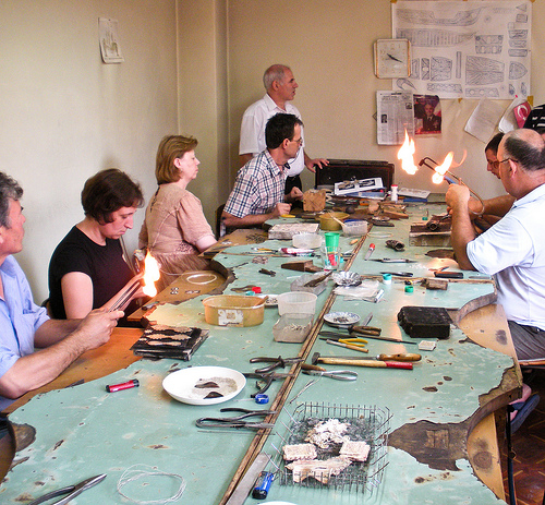 Silver Filigree masters working in Prizren, Kosovo