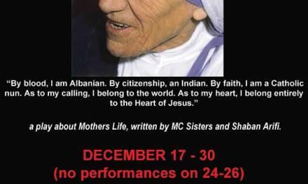 <!--:en-->A play about Mother Teresa's Life, London, 17-30 December 2012<!--:-->