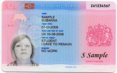 UK Visa sample