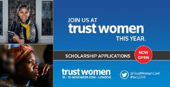 2014 Trust Women Scholarship Programme