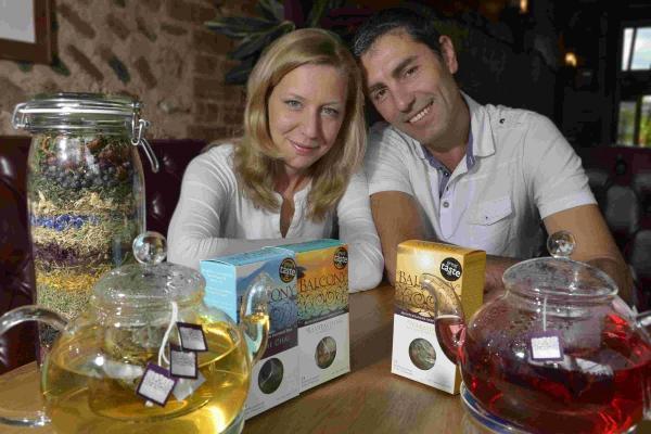 Svetlana and Miraman Nela with their awarded Hove-based Balcony Teas