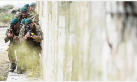 British Royal Marines deliver a show of force in Albania