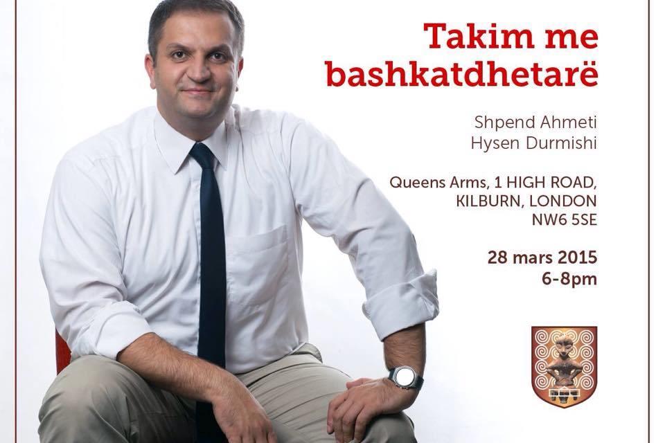 <!--:sq-->Kryebashkiaku i Prishtinës, Shpend Ahmeti, do të takohet me shqiptarë të Britanisë, me 28 mars 2015 në Londër<!--:-->