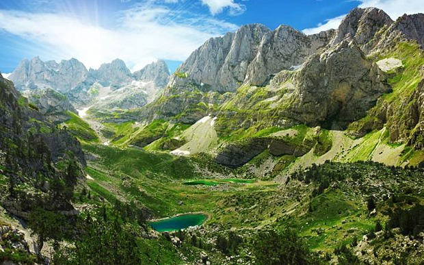 View from the top: Europe's Accursed Mountain range in Albania