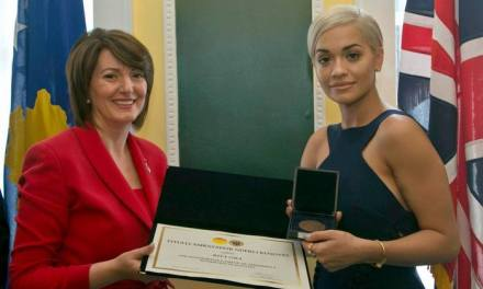 Daily Mail: Sophisticated Rita Ora named honorary ambassador to Kosovo