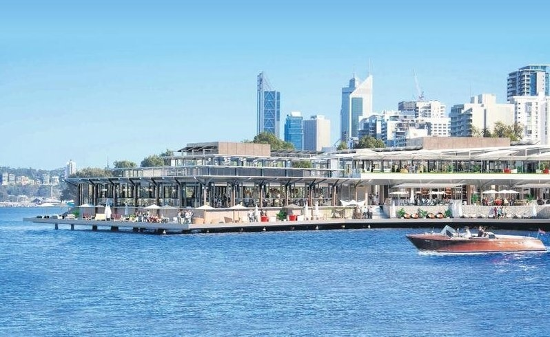 An artist's impression of the new development on the Swan River.