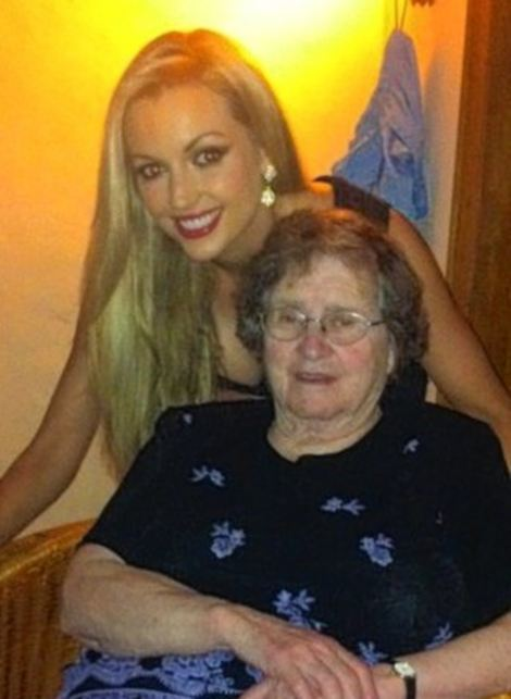 Rosanna with her grandma, Maeve de Burgh, who trained British spies in Malta to fight the communist regime in Albania - and enjoyed parties with Lord Mountbatten