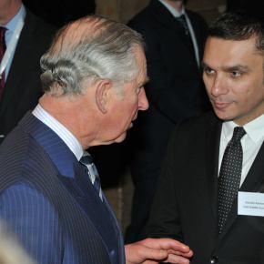 Prince Charles meeting Albanian professionals at Hamam Jazz Bar, Prishtina, Kosovo