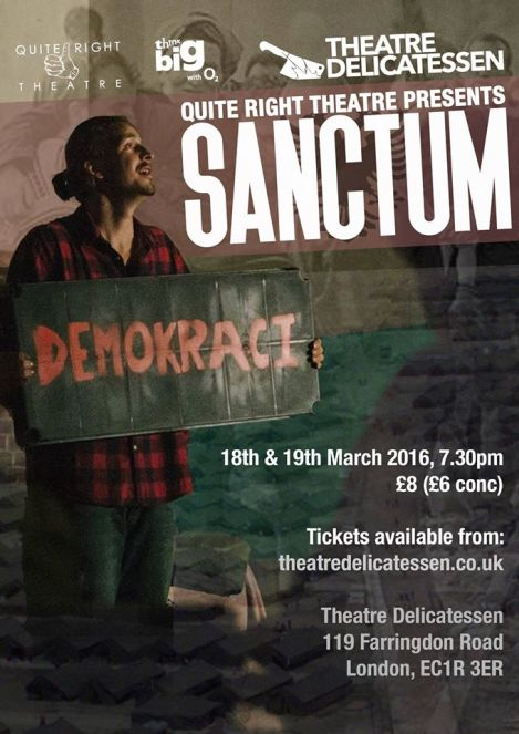Quite Right Theatre presents Sanctum
