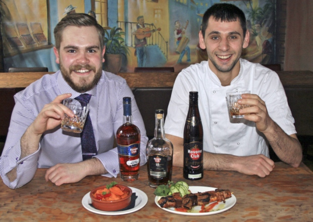 Sous chef Erkland Xhaja (right) with assistant manager John Wickham at Cubana