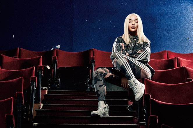 "Rita Ora in a look from her Adidas Originals ""Asian Arena"" collection."