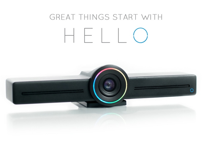 HELLO - Affordable voice-controlled smart-device for video conferencing, wireless screen sharing, live broadcasting, and security surveillance.