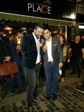 Sam Maqedonci and Dini Shahini with The London Lifestyle award