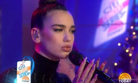 """Dua Lipa makes a US television debut on NBC's """"The Today Show"""""""