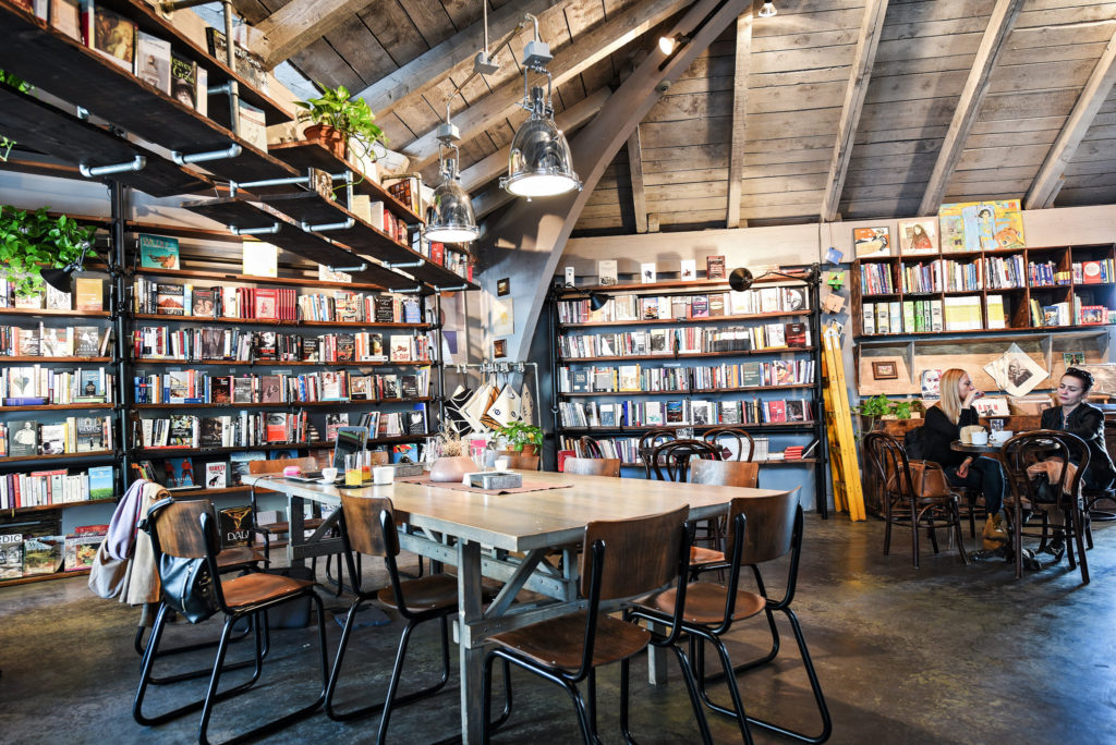 The interior of Soma Book Station. CREDIT: ARMEND NIMANI FOR THE NEW YORK TIMES
