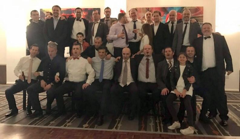 Basektistat gjatë mbrëmjes bamirëse, të mbajtur në Londër me 3 dhjetor 2016