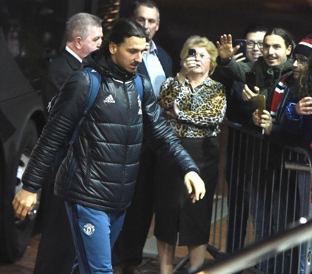 Albanian Zlatan Ibrahimovic waving to real Zlatan Ibrahimovic (or vice versa?) at the Lowry hotel in Manchester