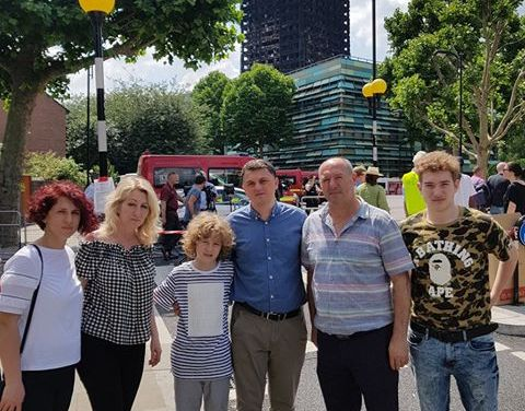 Kosova ambassador visits Grenfell Tower victims and appeals for help