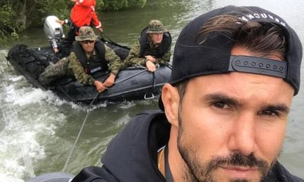 An Albanian refugee who saved several people from Harvey floods on his boat, wins a legion of female fans
