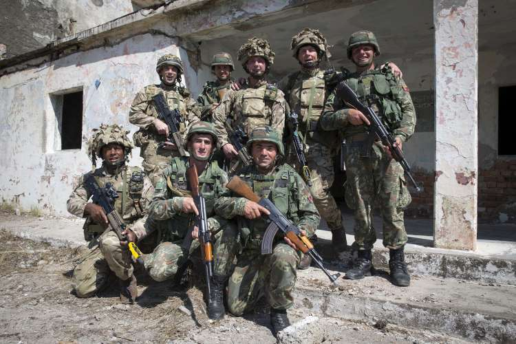 British and Albanian armed forces - operation Ushtar Eagle 2017