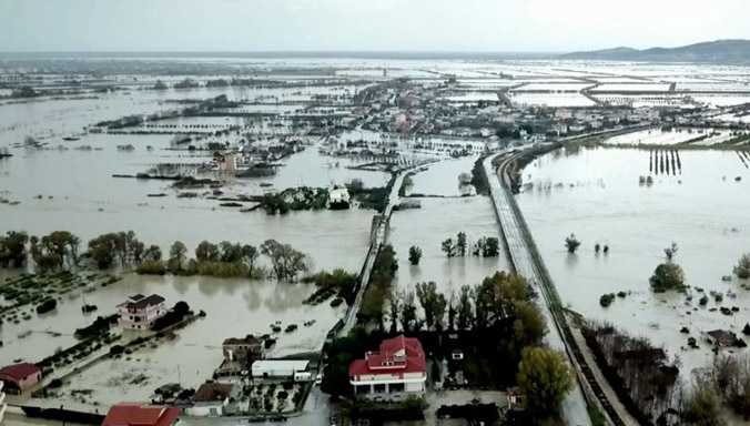 Floods in Albania, December 2017
