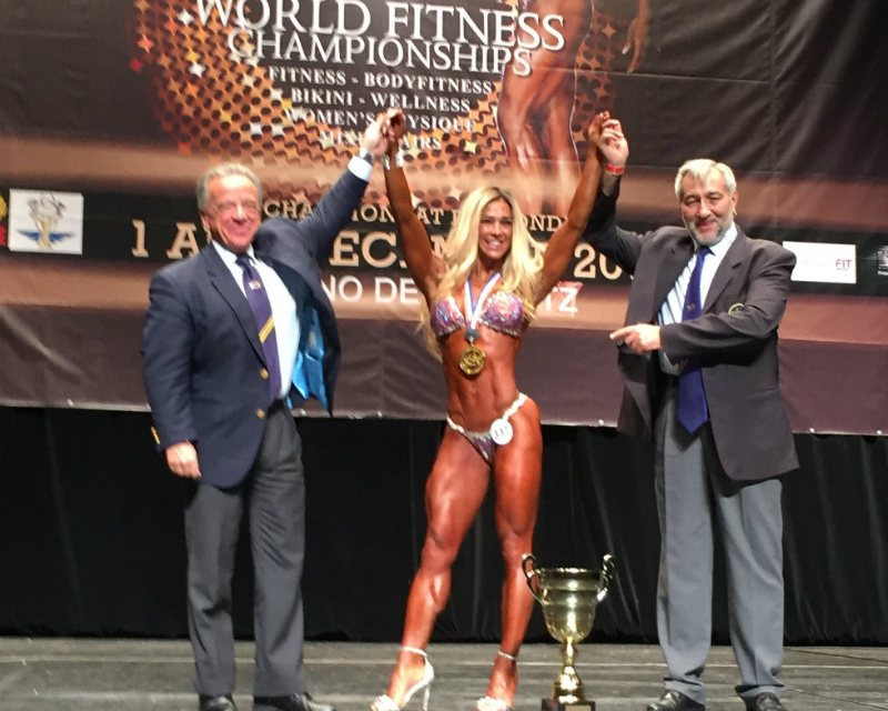 Tears of joy for Kosova's Beqa named overall World Champion in the women's wellness fitness category