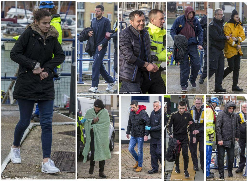 Nente shqiptaret e shpetuar nga ekipet e shpertimit britanik, deri sa tentuan te kalojne ilegalisht nga Franca ne Angli me 31 janar 2018