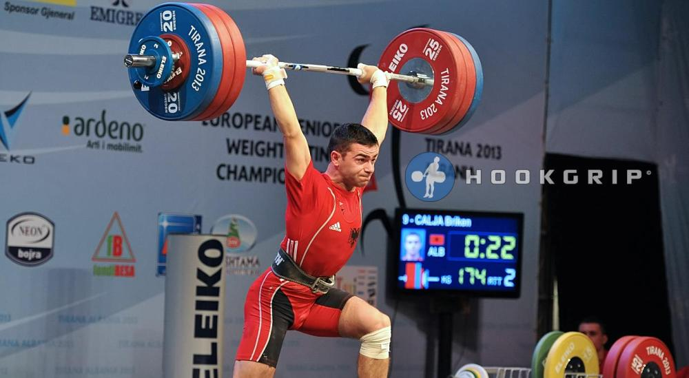Briken Calja won three gold medals at the European Senior Weightlifting Championships in Romania