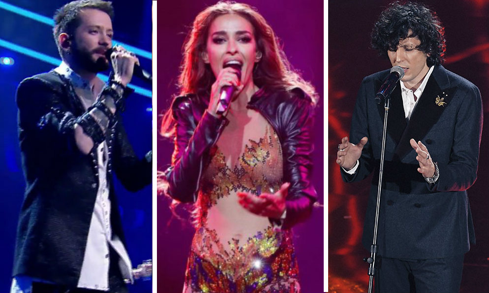 Three Albanians will sing for three different countries on Eurovision Song Contest 2018. From left to right: Eugent Bushpepa, Eleni Foureria, Ermal Meta