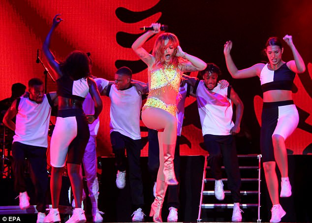 Rita Ora gave her all on stage while she performed her back catalogue to an enthusiastic Tirana crowd
