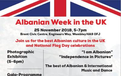 Albanian Week in the UK, 25 November 2018 in Wembley, London