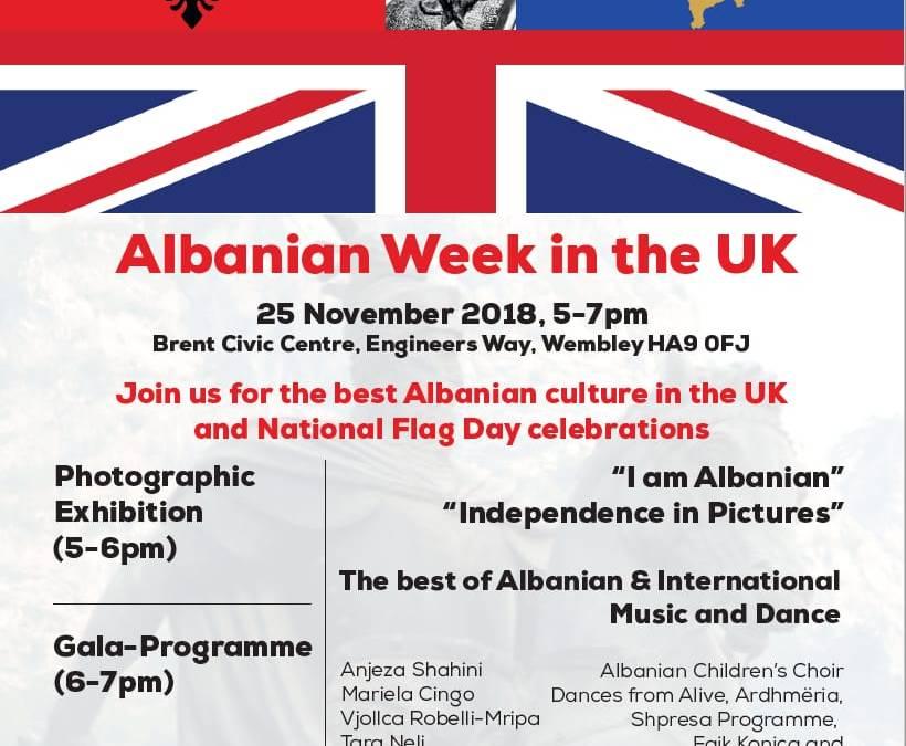 Albanian Week in the UK, 25 November 2018 in Wembley, London