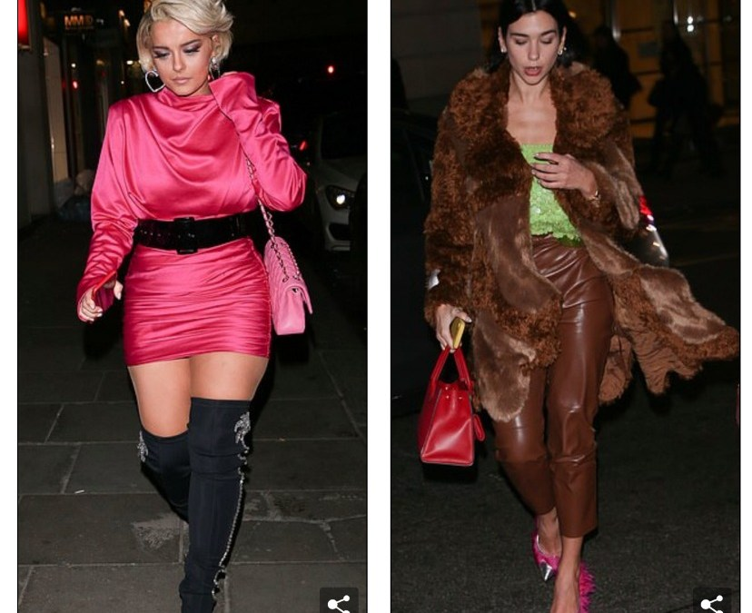 Two Albanian pop divas dine together in London