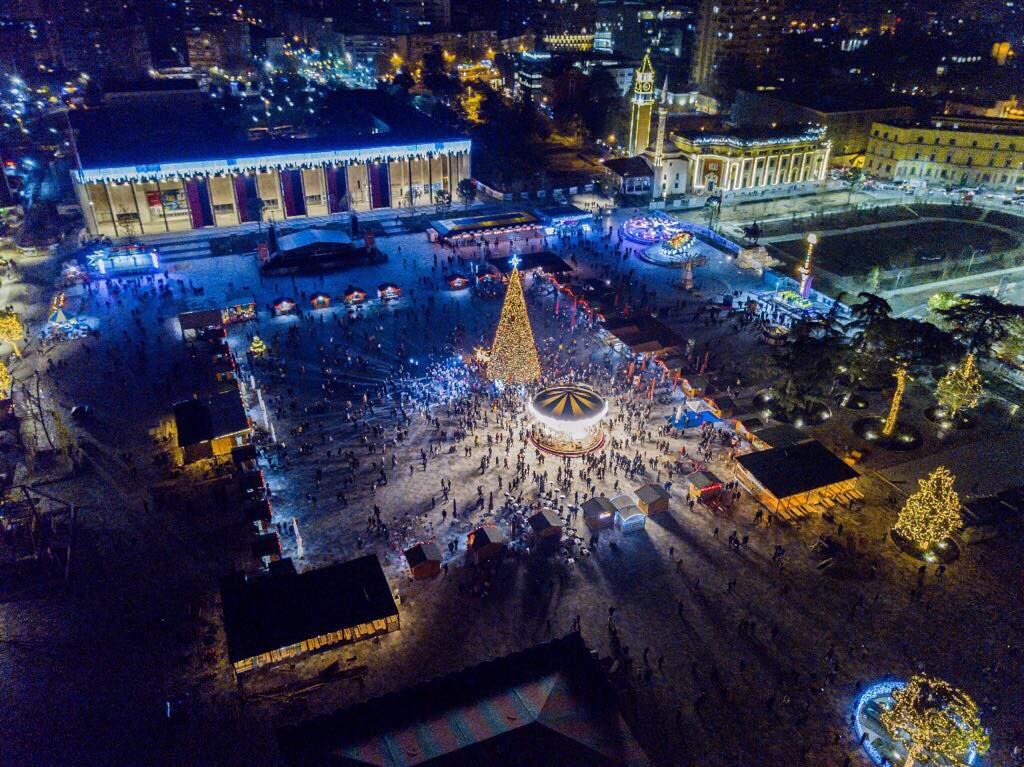 Tirana during Christmas