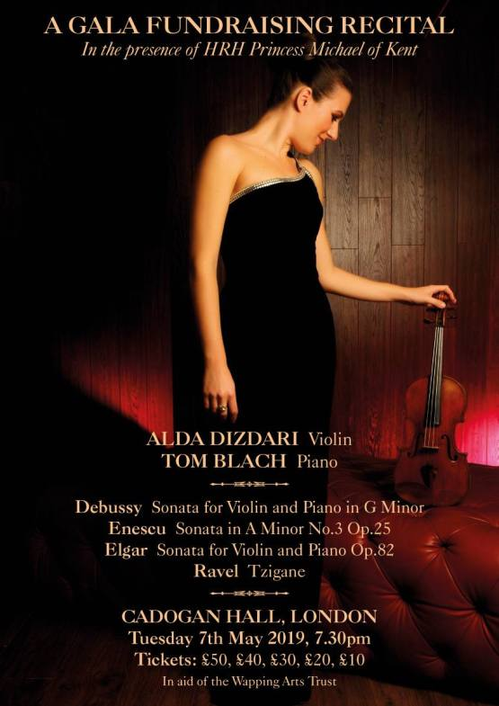 Alda Dizdari performance on 7th May 2019 at Cadogan Hall, London