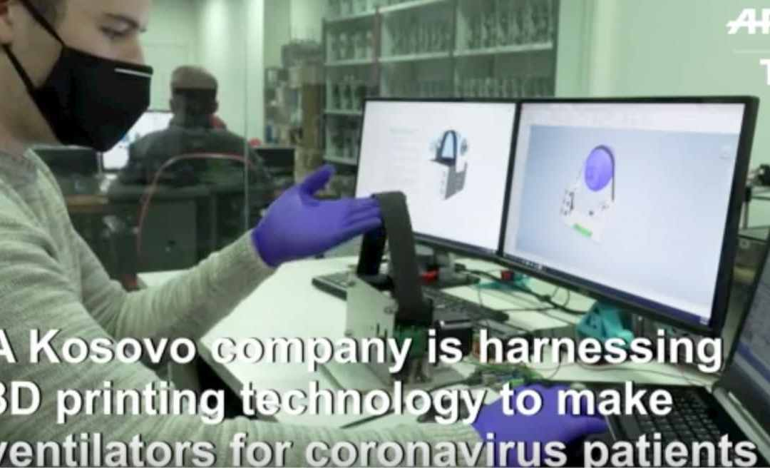 Kosovo company uses 3D printers to develop a ventilator