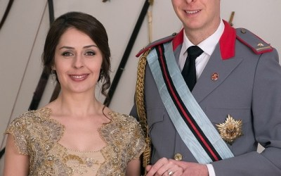 Albania's Crown Prince and Princess welcome daughter Geraldine