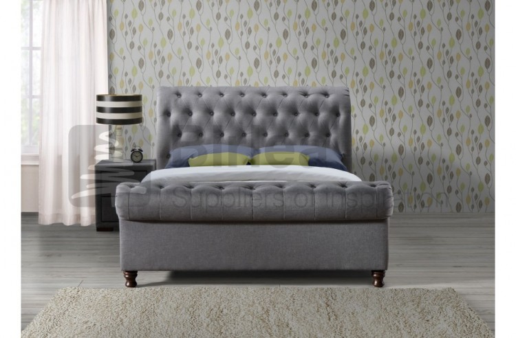 Birlea Castello 6ft Super Kingsize Grey Fabric Bed Frame