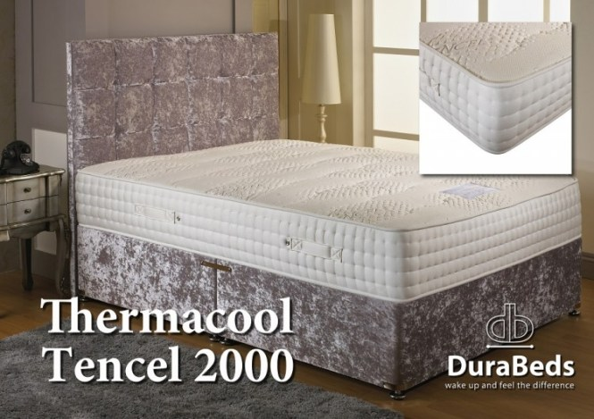 Dura Bed Thermacool Tencel 2000 5ft Kingsize Pocket Sprung Mattress By Durabed