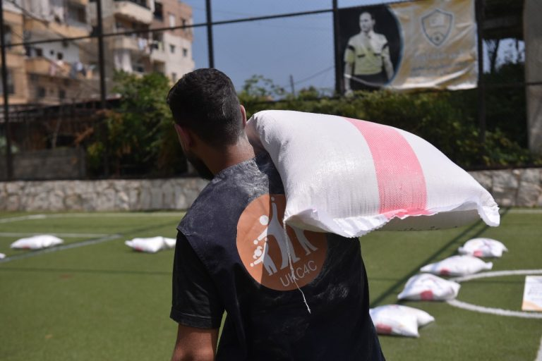 Delivering aid in Lebanon - UK Care for Children