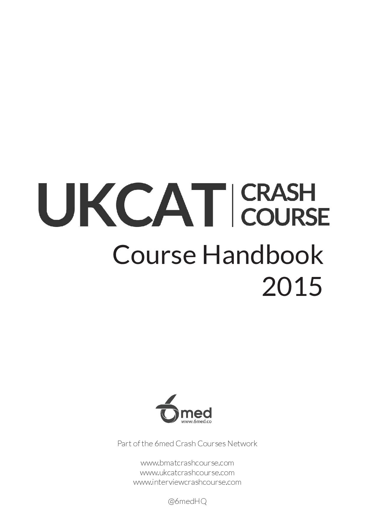 UKCAT Crash Course handbook page 1