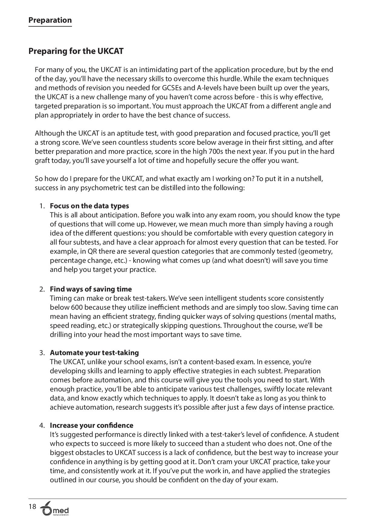 UKCAT Crash Course handbook page 18