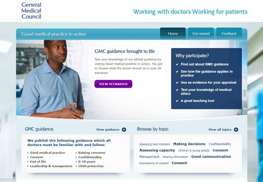 GMC Good Medical Practice website