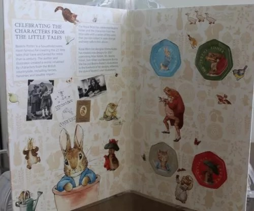 2017 Beatrix Potter 50p Coin Collector Album