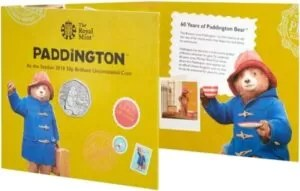 Paddington Bear 50p BU Folder